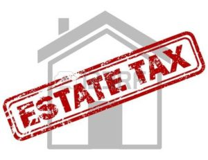 67557208-red-estate-tax-rubber-stamp-on-grey-house-or-building-icon-over-white-background
