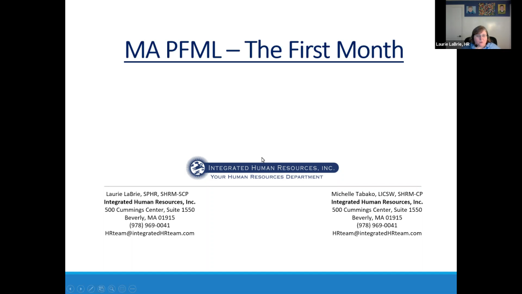 MA PFML – The First Month – By Laurie LaBrie, Integrated HR Team